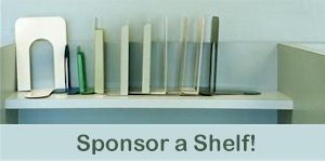 Sponsor a shelf in our new library!
