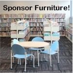 Sponsor furniture in our new library!
